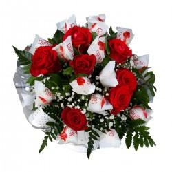 Róże z Raffaello...