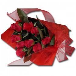 Bukiet 9 róż naręcze