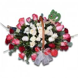 Róże w koszu na...